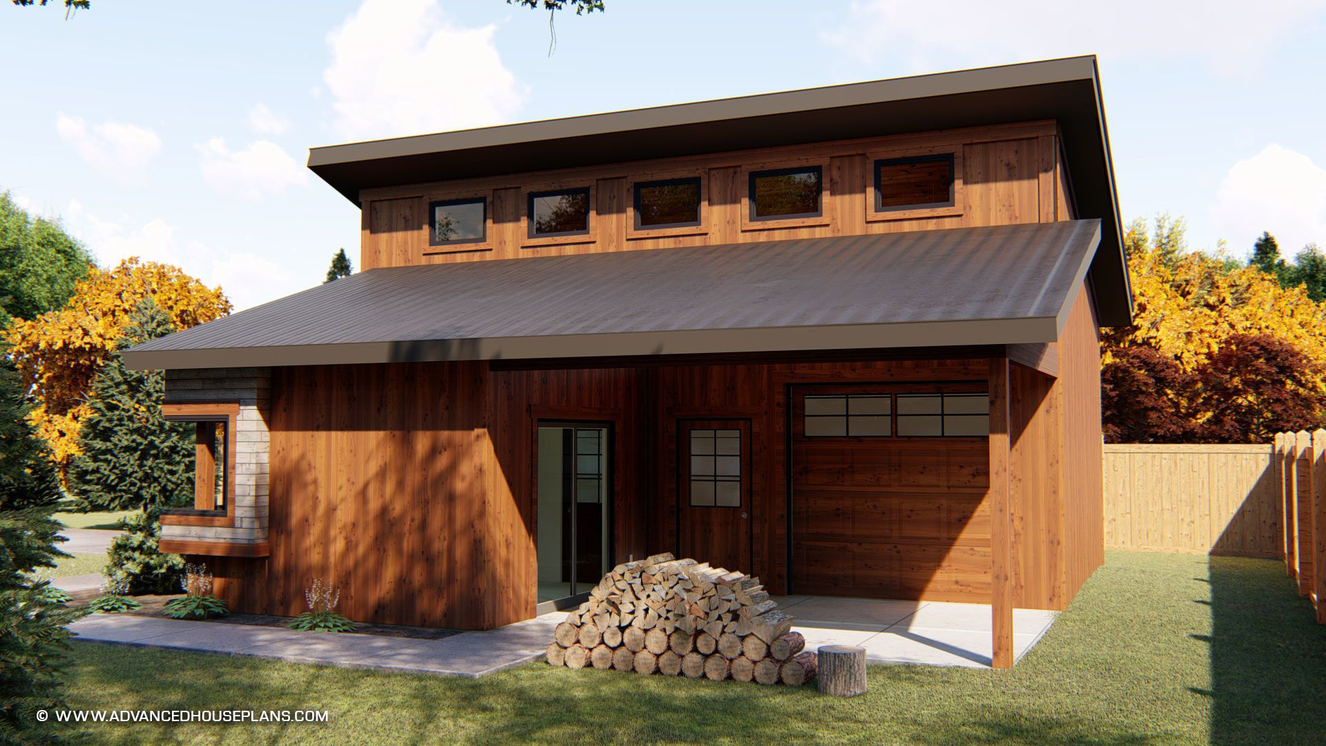 Modern Style Specialty Garage Plan Kimmons Modern Garage Garage Workshop Plans Garage Plan