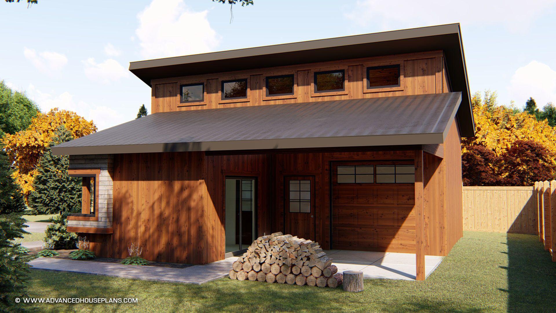 Kimmons Garage Modern House Plan | Modern garage, Garage workshop ...