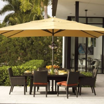 10 x 13' umbrella!! woo hoo!! Not easy to find this size!! Easy Shade Outdoor Umbrella and look how easy it is to go up and down! yeah!