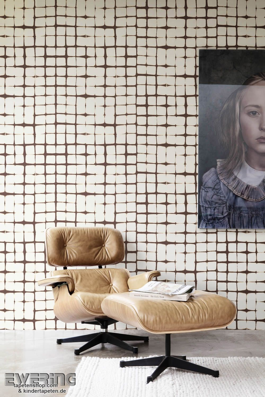 12 Nomadics 05 Beige Und Braun Formen An Der Wand Ein Quadrat Muster Für  Fans Von Kreativen Mustern.