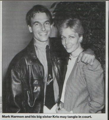 Mark and his sister kris mark married actor pam dawber for Pam dawber and mark harmon divorce
