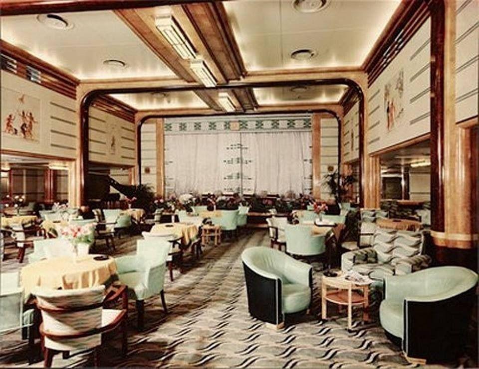 Queen mary interior ocean liner pictures pinterest