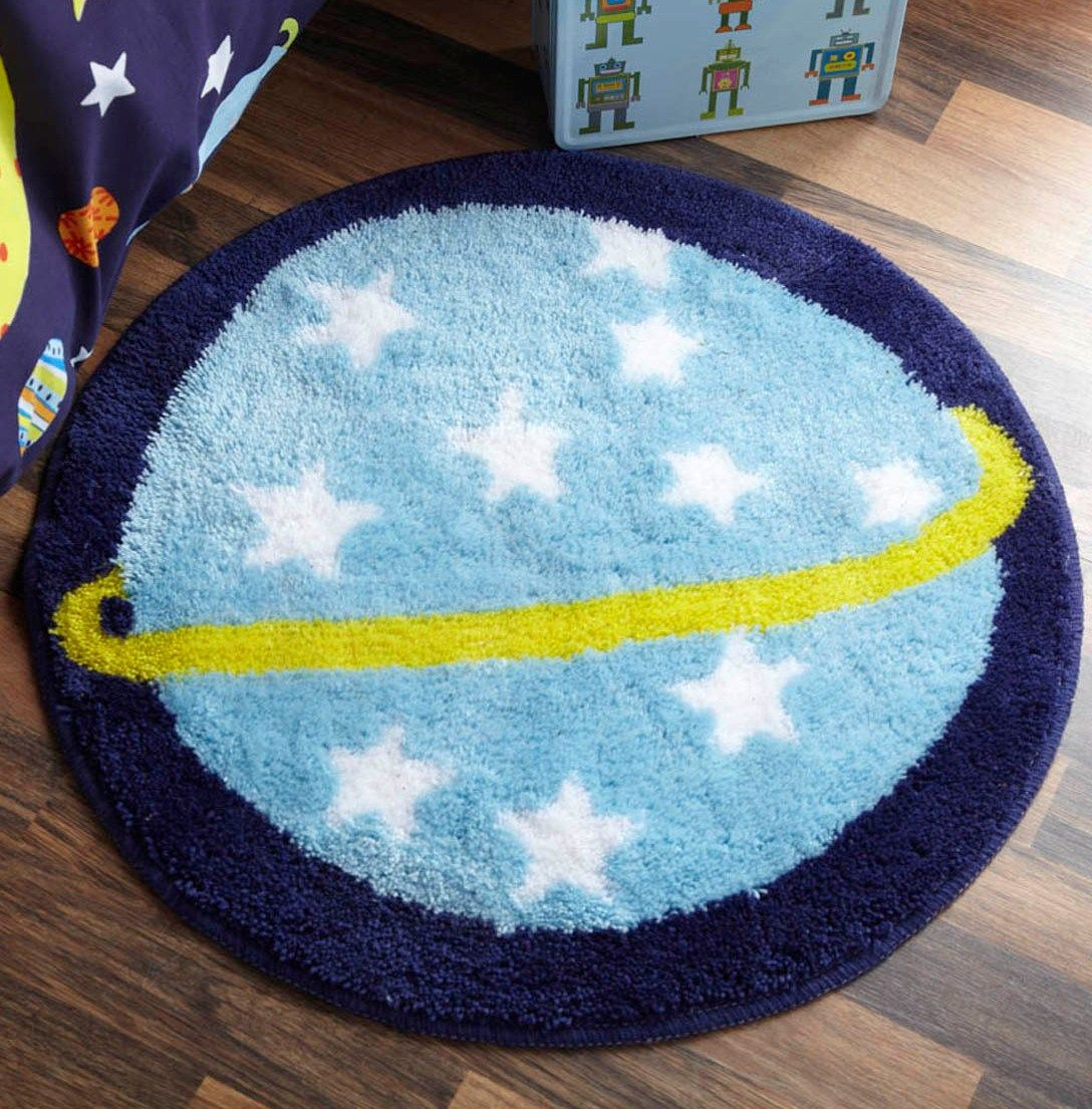 rocket ship room decor | using outer space bedding kids outer ...
