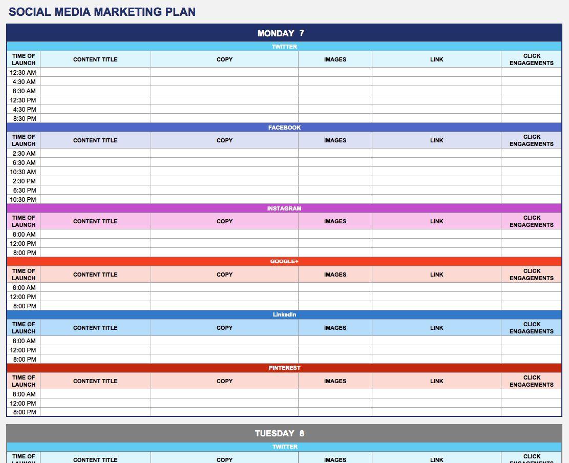 Social Media Marketing Plan  Marketing Plan Template