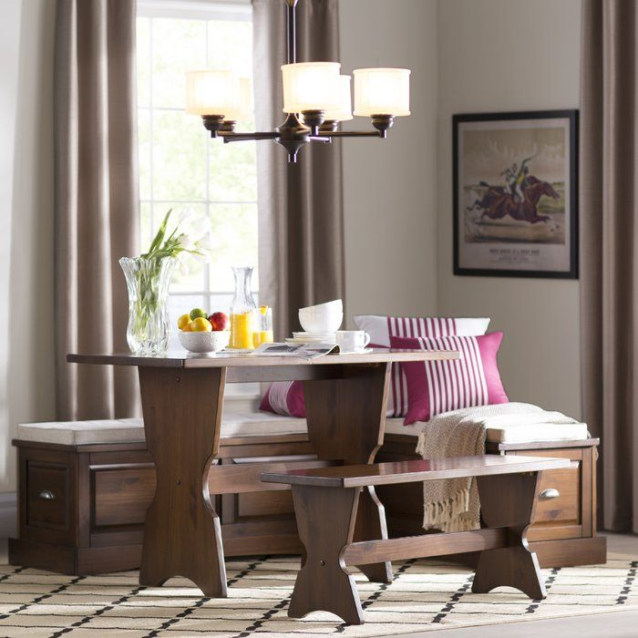 Gentil Dearborn 3 Piece Nook Dining Set