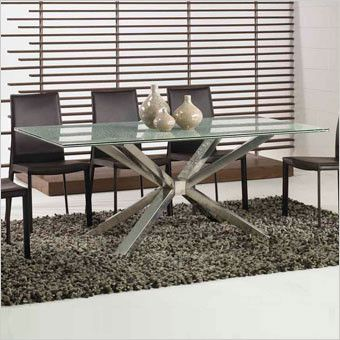 Flamingo Metal Dining Table Base   Stainless Steel Finish   Scan Design  Furniture | Modern U0026
