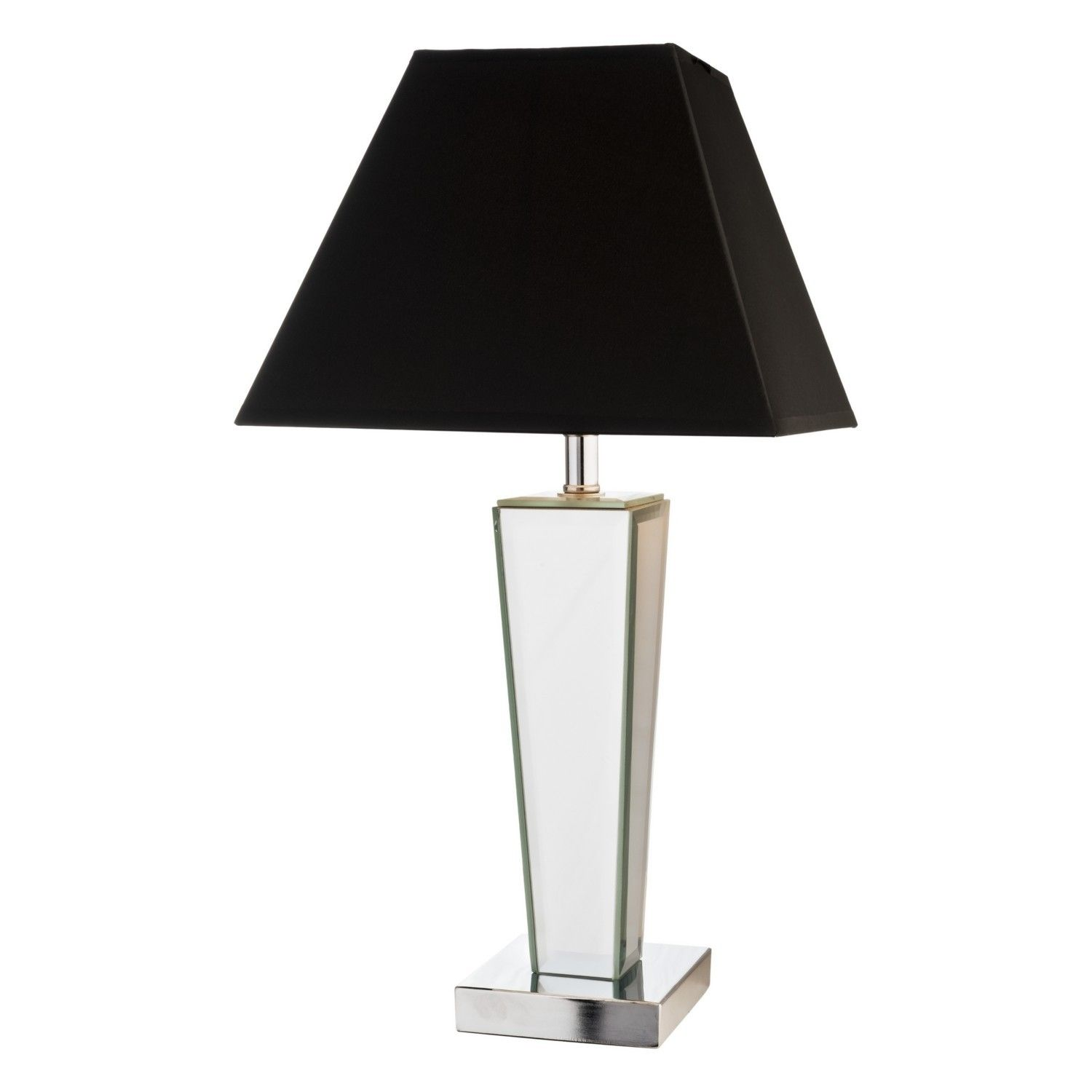 Black Mirror Reflection Table Lamp With