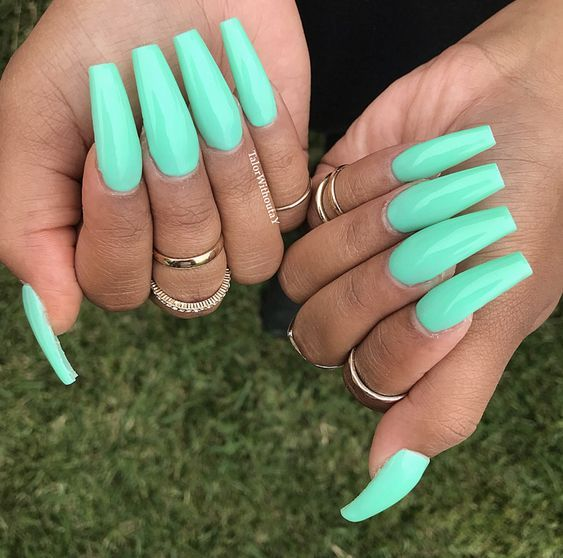 42 Coffin Acrylic Nail Ideas With Different Colors That You Ll Want To Copy Diy Acrylic Nails Acrylic Nails Coffin