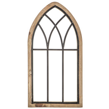Rustic Cathedral Arch Wood Wall Decor Wood Wall Decor Arched Wall Decor Window Frame Decor
