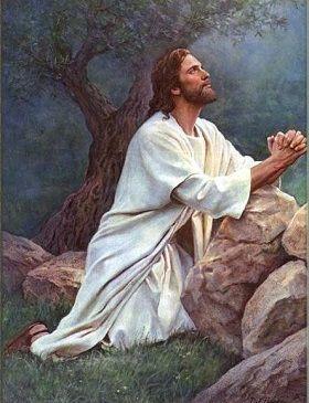 Resultado de imagen de jesus rezando el padre nuestro
