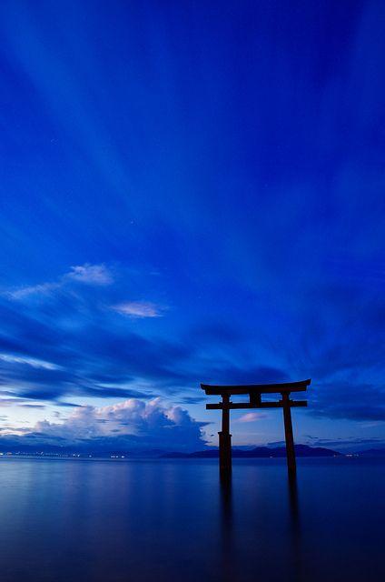 Blue Blau Bleu Azul Blå 蓝色 Color Form Texture Morning Lake Biwa In Shiga An