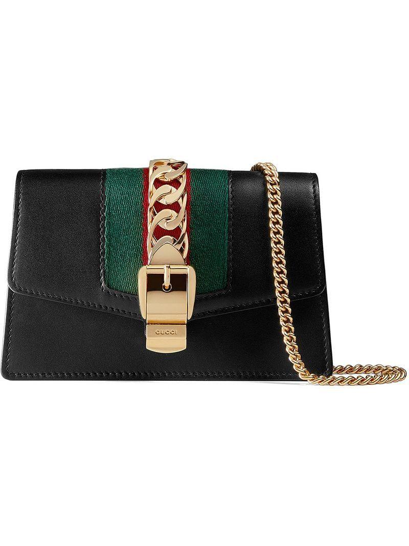 Photo of Gucci Sylvie Leather Mini Chain Bag