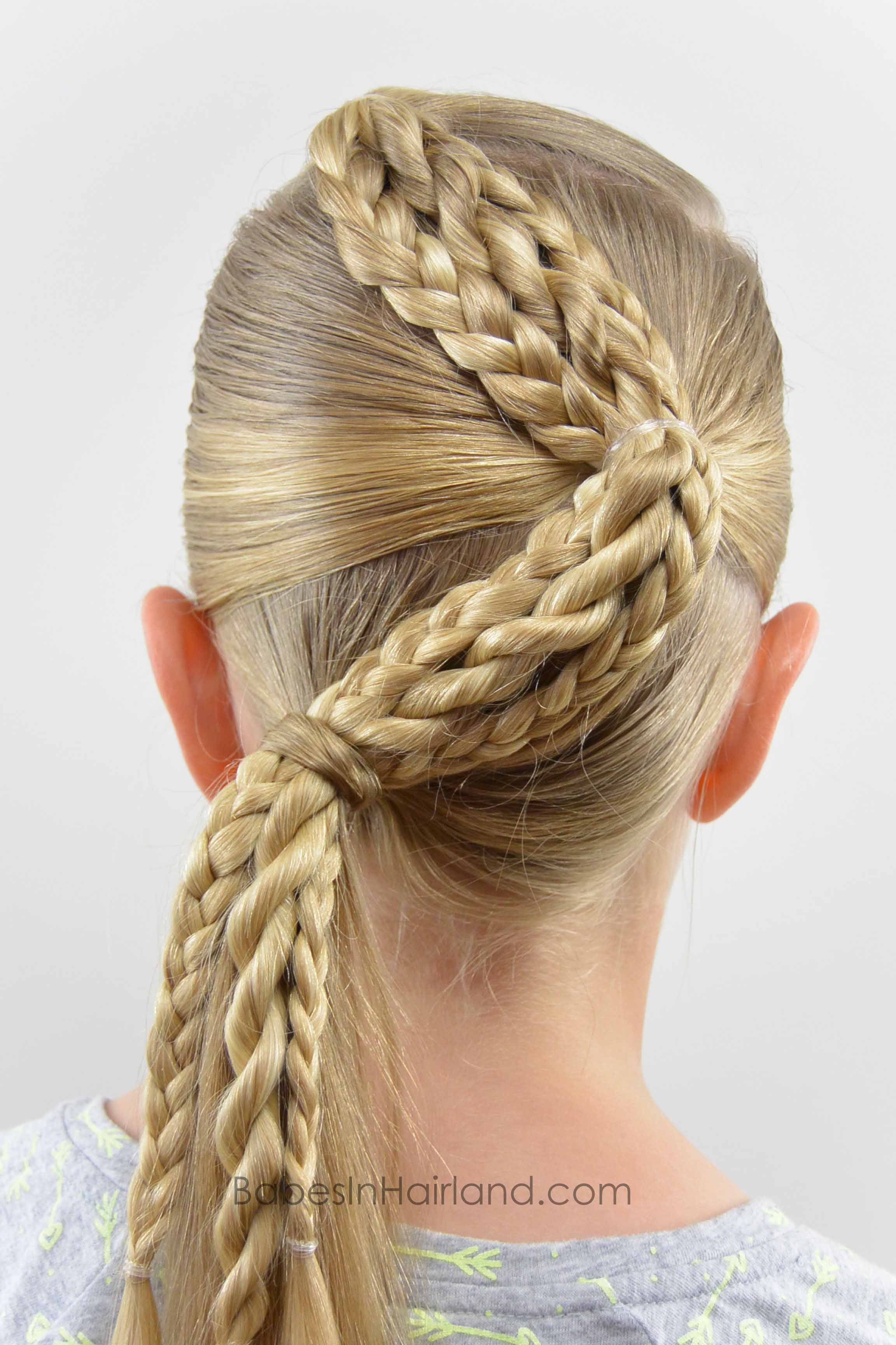 Zig zag braids from babesinhairland hair braids ponytail