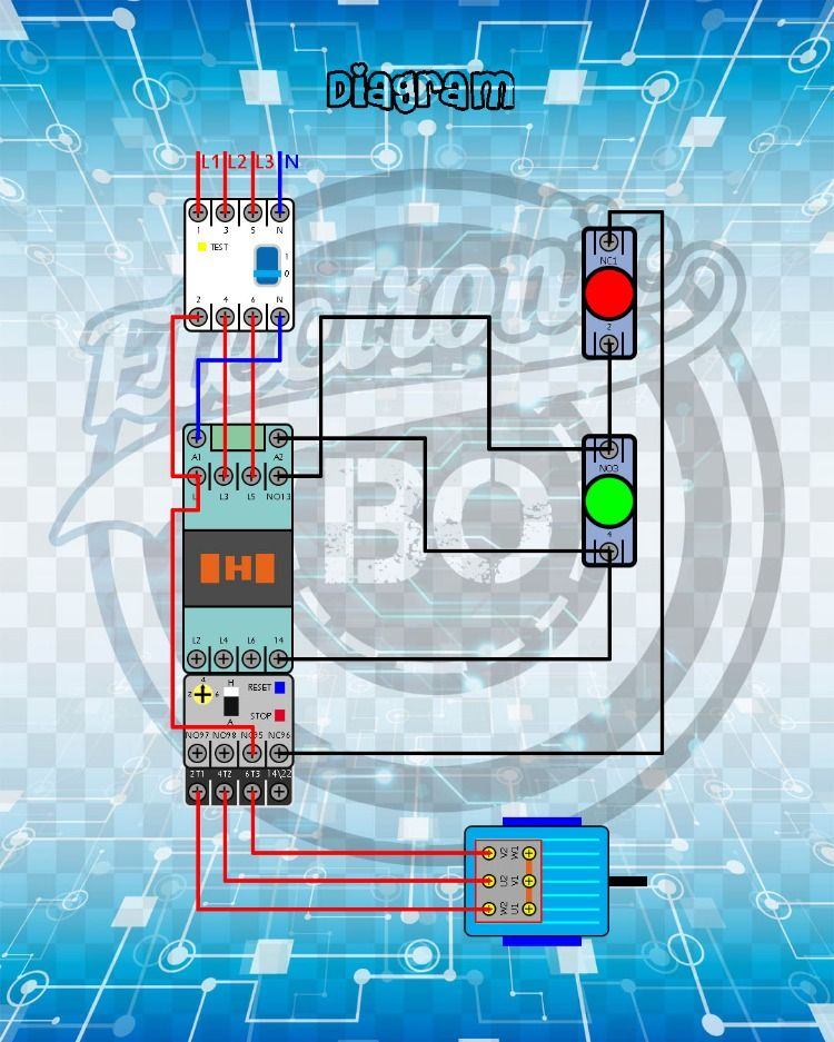 Direct Start 1 Direction Of Rotation Motor 3 Phase Comandos