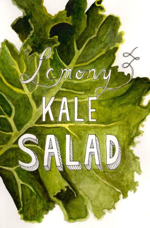Lemony Kale Salad [The Slug Kitchen]