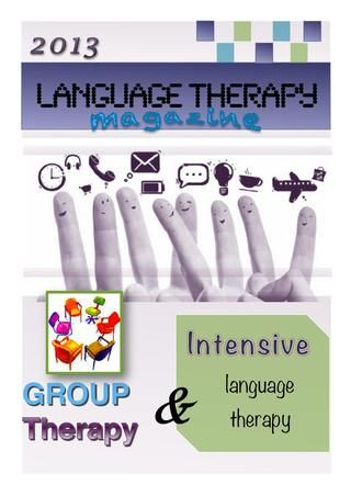 Group Language therapy