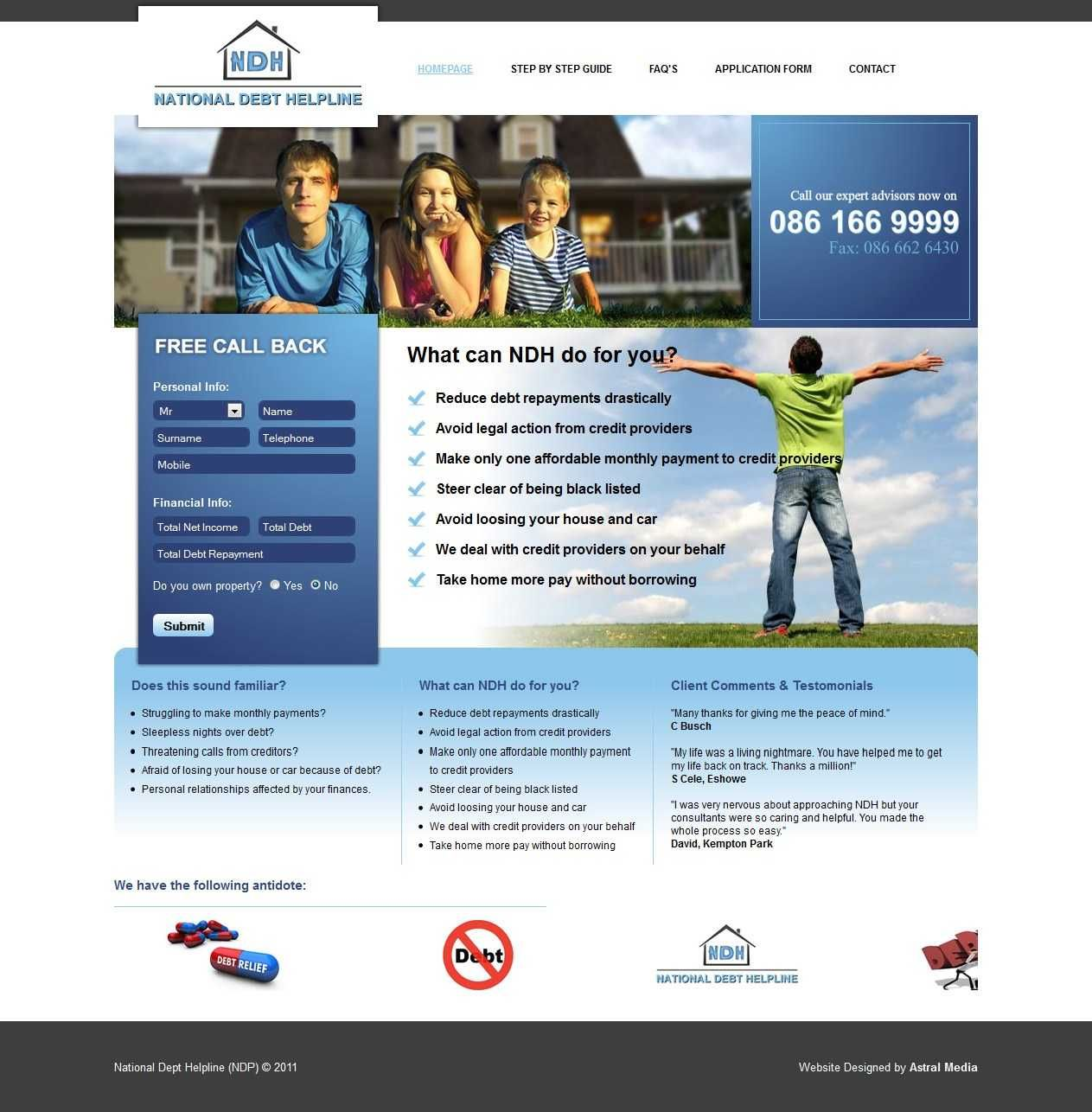 Website Designed Developed Reduce Debt National Debt Debt Repayment
