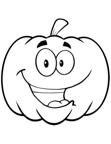 Click To See Printable Version Of Cartoon Halloween Pumpkin Coloring