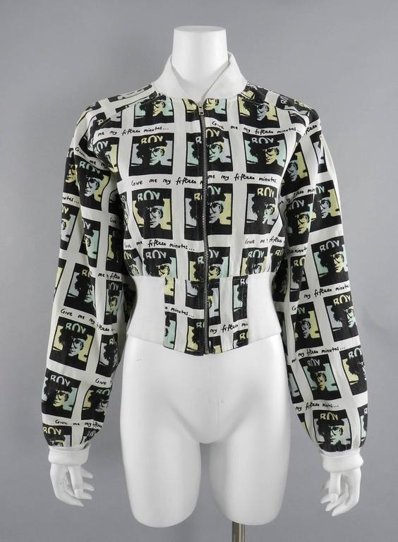 Vintage Boy London 1980 S Andy Warhol Bomber Jacket Jacket Design Clothes Vintage Outfits