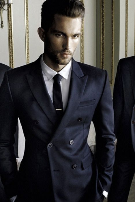midnight-blue-double-breasted-suit | Things to Wear | Pinterest ...