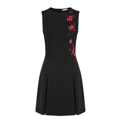 Nakis Detayli Siyah Elbise Siyah Elbise Elbise Jean Etek