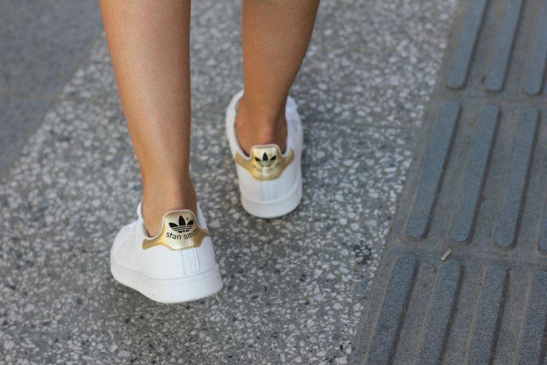 adidas customized stan smith croco gold combi