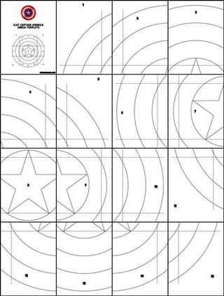 Captain America Shield Stencil Home Templates Template For Simple Flat