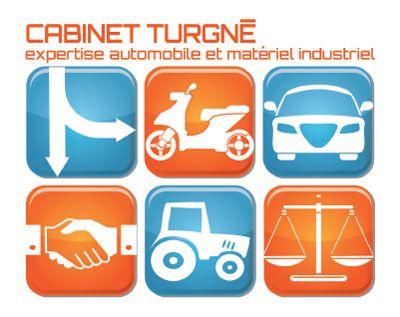 Création du logo du Cabinet Turgné, expertise automobile et matériel industriel, Saintes