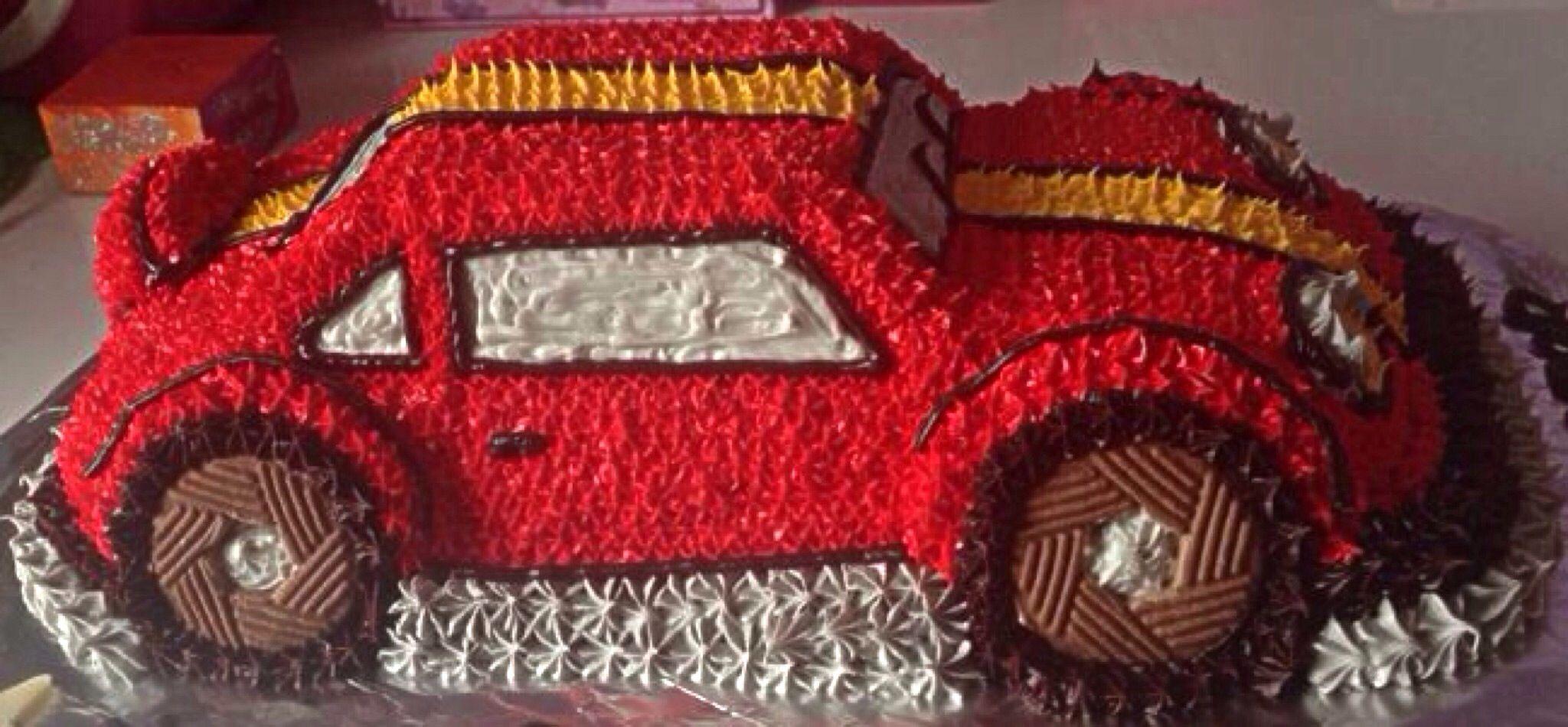 Race Car cake made using Wilton 3D cruiser cake pan cake pan ideas