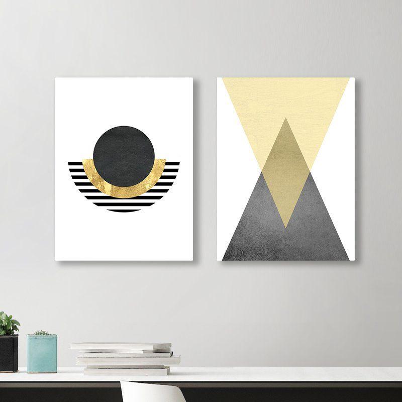 Geometric 2 Piece Graphic Art Print Diptych Wall Art Art Graphic Art Print