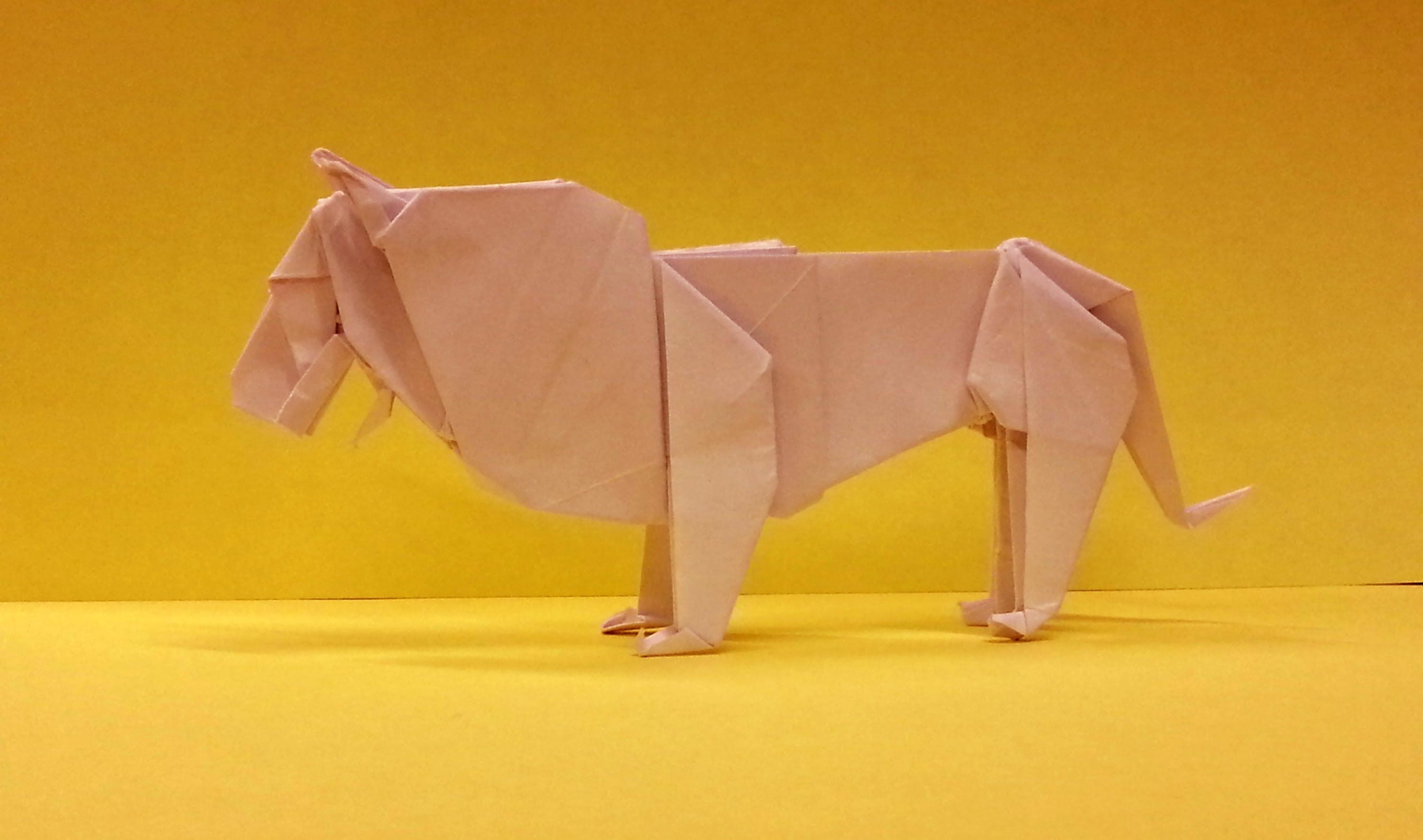 How To Make An Origami Lion | Origami Animals/Insects ... - photo#29