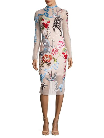 4d5b0c1c8c Sail Embroidered Back Vent Sheath Dress by Temperley London at Gilt ...