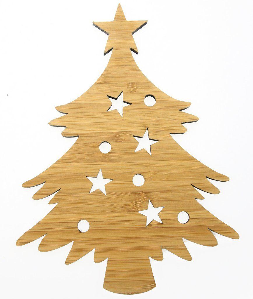 Wanddeko weihnachtsbaum aus bambus weihnachtliches - Wanddeko bambus ...