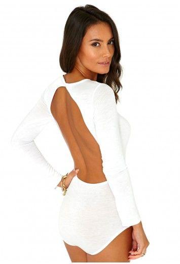 vestibilità classica grande vendita fornitore ufficiale Jusiane Open Back Long Sleeve Bodysuit - Tops - Bodysuits ...