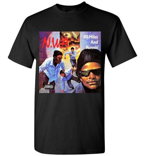 Official NWA Straight Out Compton T-Shirt Eazy E Niggaz4life 100 Miles And Runni