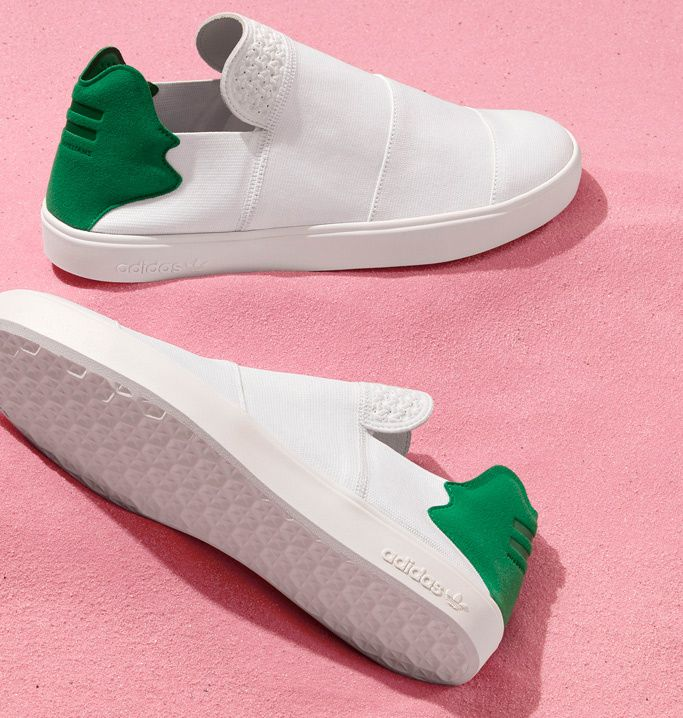 Life is a beach for adidas Originals = PHARRELL WILLIAMS. For Spring/Summer  the sportswear leader and the celebrated musician hit the 'Pink Beach' with  a