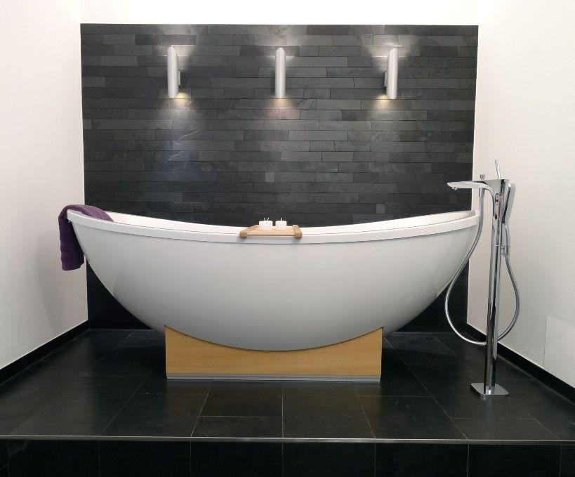 Schieferplatten Machen Im Bad Eine Gute Figur