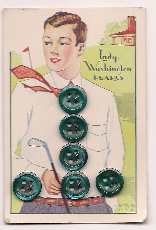 vintage buttons on cards - Google Search