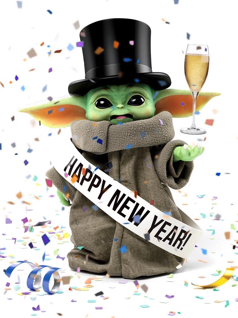 Happy New Year Baby Yoda Video Star Wars Art Happy New Year Baby Star Wars Drawings