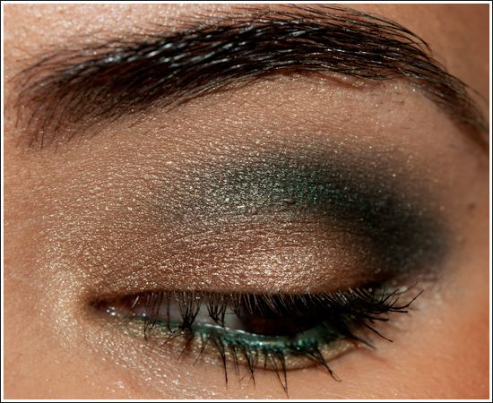Neutrals with Smoldering Greens Look