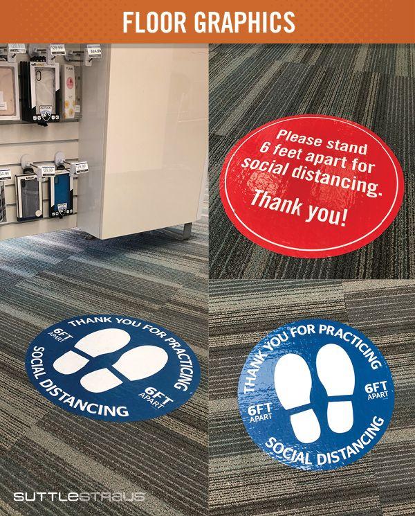 Temporary Retail Floor Graphics in 2020 Floor graphics