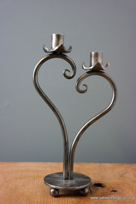 Heart Design Candle holder Blacksmith Hand Forged 6th #designcandles