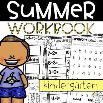 Photo of Kindergarten Summer Review Pack July