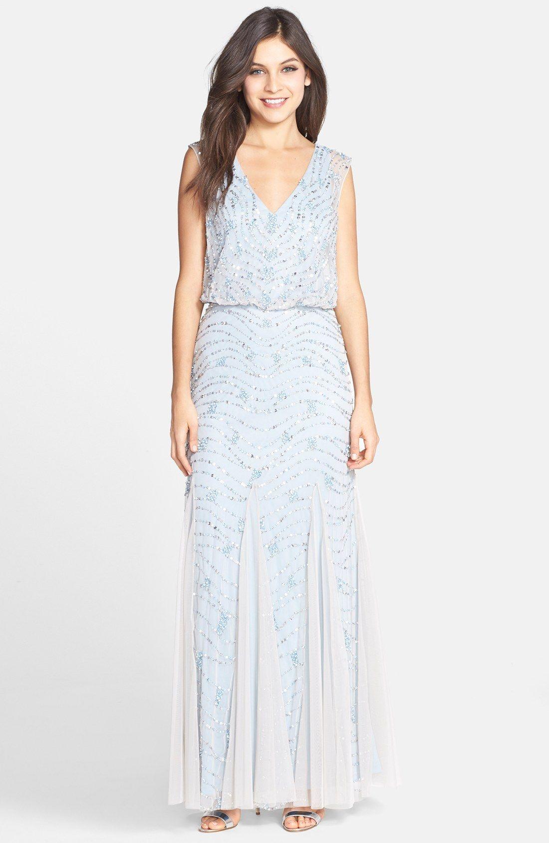 Aidan Mattox Embellished Lace Blouson Gown $450 | Dress to impress ...