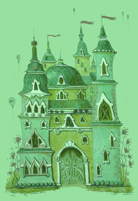 волшебник изумрудного города картинка замка