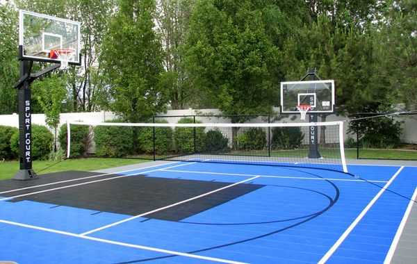 Confluence multi sport game courts sport court west for Backyard sport court ideas