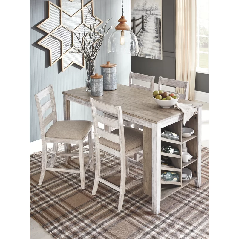 Lomeli Solid Wood Dining Table Dining Room Small Counter Height