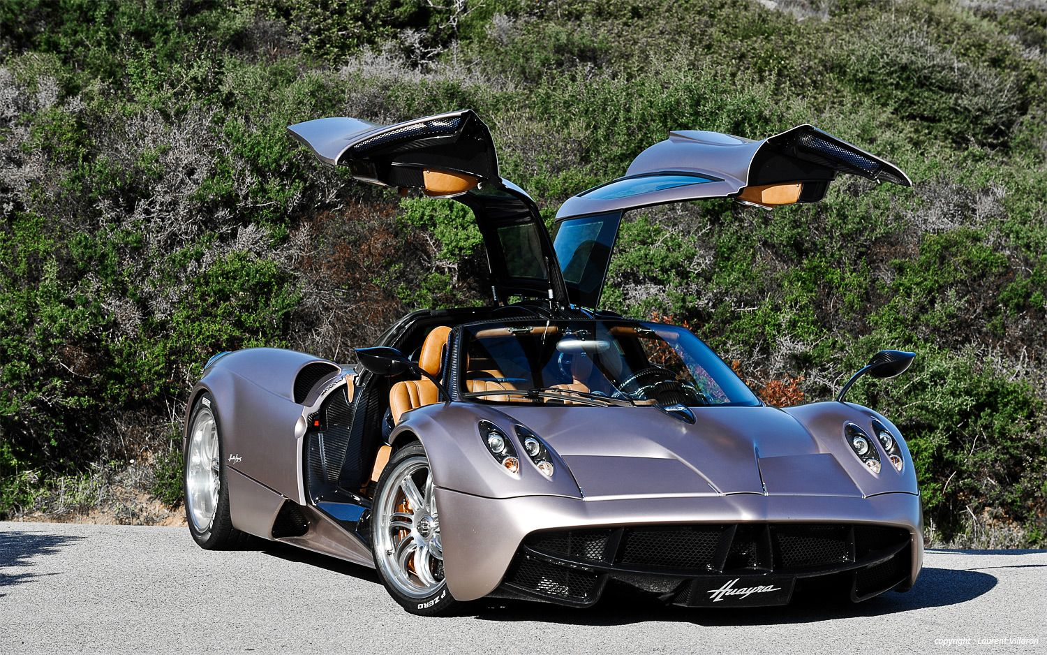 Pagani Huayra Front Three Quarter Doors Open