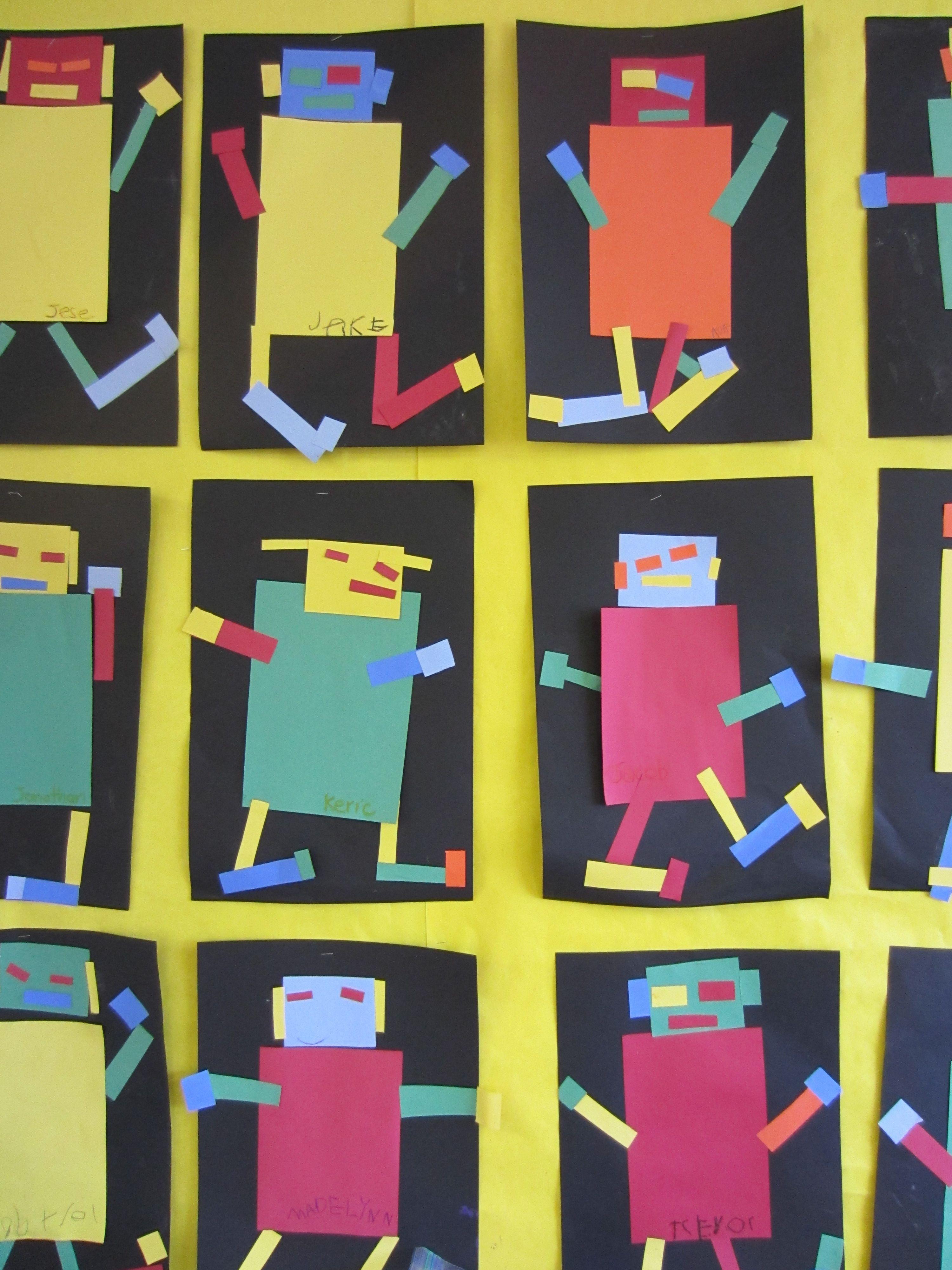 Rectangle Robots For Kindergarten
