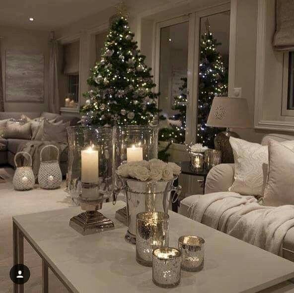 Pin von Charlene Clement auf Einrichten   Weihnachten haus dekoration, Weihnachten wohnzimmer ...